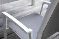 Tuinstoel Bondi lichtgrijs/wit-Artikeldetail