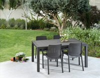 Allibert table de jardin Melody Graphite 160 x 95 cm-Image 3