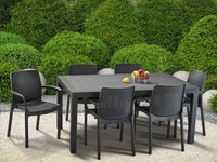 Allibert table de jardin Melody Graphite 160 x 95 cm-Image 2
