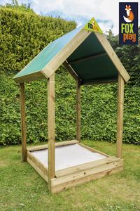 Fox play bac à sable carré avec toit Buffalo-Image 1