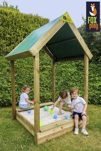 Fox play bac à sable carré avec toit Buffalo-Image 2