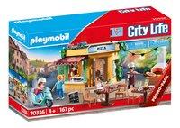 PLAYMOBIL City Life 70336 Pizzeria avec terrasse-Côté gauche