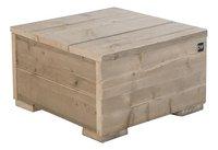 Dutchwood table d'appoint brun 80 x 80 cm-Côté gauche