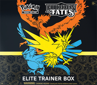 Pokémon Trading Cards Hidden Fates 11.5 Elite Trainer Box-Vooraanzicht
