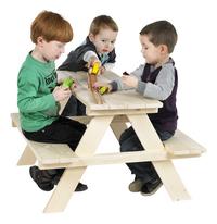 Pinolino table de pique-nique pour enfants Nicki naturel-Image 1