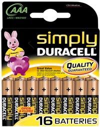 Duracell Simply 16 piles AAA Obélix