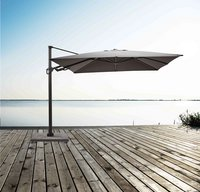 Ocean hangparasol Bahia aluminium 3 x 3 m Charcoal-Afbeelding 2