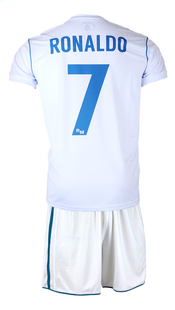 Voetbaloutfit Real Madrid Cristiano Ronaldo wit-Achteraanzicht