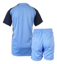 Voetbaloutfit Manchester City lichtblauw-Achteraanzicht