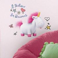 Muursticker Despicable Me 3 - I believe in Unicorns