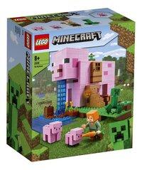 LEGO Minecraft 21170 Het varkenshuis-Linkerzijde