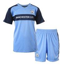 Voetbaloutfit Manchester City lichtblauw-Vooraanzicht