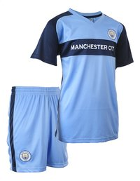 Voetbaloutfit Manchester City lichtblauw-Linkerzijde