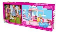 Barbie maison avec piscine et 3 poupées-Côté droit