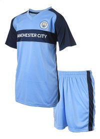 Voetbaloutfit Manchester City lichtblauw-Rechterzijde