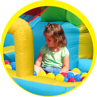 Happy Hop springkasteel Playcenter 7-in-1 -Afbeelding 2