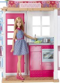 Barbie huis met zwembad en 3 poppen-Afbeelding 2