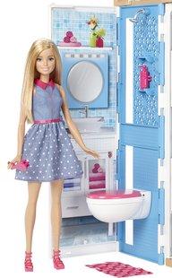 Barbie maison avec piscine et 3 poupées-Image 3