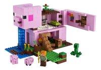 LEGO Minecraft 21170 Het varkenshuis-Vooraanzicht