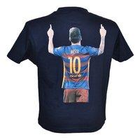 T-shirt FC Barcelona Messi zwart-Achteraanzicht