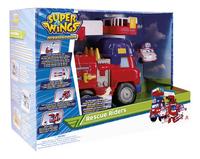Super Wings Camion de pompiers Rescue Riders et Dizzy-Côté gauche