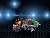 PLAYMOBIL Super 4 9006 Alien krijgers met T-Rex-Afbeelding 1