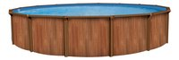 Atlantic Pools zwembad Esprit II redwood diameter 4,57 m