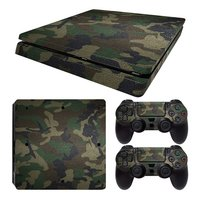 PS4 Slim console skin + 2 controllers skins Army Camouflage