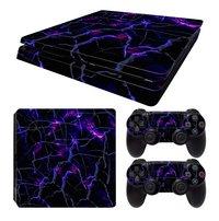 PS4 Slim console skin + 2 controllers skins Dark Matter