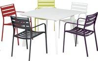 Table de jardin Nice blanc 100 x 100 cm-Image 4