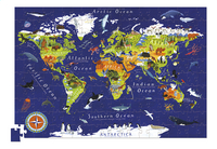 Crocodile Creek Puzzle & poster World-Avant