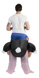 Verkleedpak opblaasbare struisvogel één maat-Achteraanzicht
