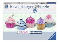 Ravensburger panoramapuzzel Suikerzoete cupcakes-Vooraanzicht