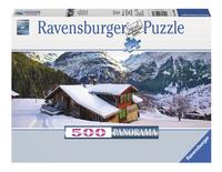 Ravensburger puzzle panorama Châlet dans les Alpes