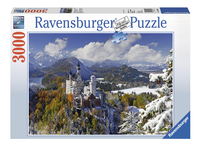 Ravensburger puzzel Slot Neuschwanstein in de winter-Vooraanzicht