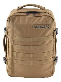 CabinZero reistas Military Sand 28 l-Vooraanzicht