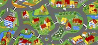 Tapis de circulation Little Village 95 x 200 cm