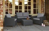 Allibert Ensemble Lounge California Graphite avec canapé 2 places-Image 1