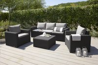 Allibert Loungeset met driezit California grafietgrijs cool grey-Afbeelding 1