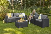 Allibert Loungeset met driezit California grafietgrijs cool grey-Afbeelding 2