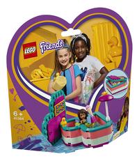 LEGO Friends 41384 Andrea's hartvormige zomerdoos-Linkerzijde