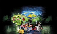 PLAYMOBIL Ghostbusters 9222 Bouffe-tout avec stand de hot-dog-Image 1
