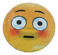Emoji Kussen pailletten innocent/laughing-Vooraanzicht