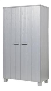 Kleerkast Dennis met 2 deuren betongrijs-Rechterzijde