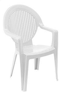 Grosfillex chaise de jardin Fidji blanc-Côté gauche