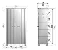 Kleerkast Dennis met 2 deuren betongrijs-Artikeldetail