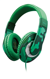 Trust casque Sonin Kids Jungle Camo vert-commercieel beeld
