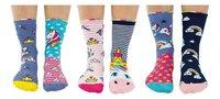 United Odd Socks Unicorn Daze 6 sokken maat 30-38-Vooraanzicht