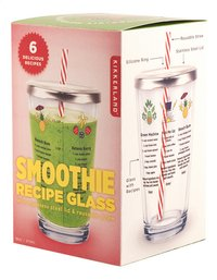 Kikkerland Smoothie Recipe Glass-Rechterzijde