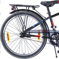 Citybike Blade 24/ noir avec porte-bagages-Base